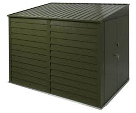 trimetals 9 x 6 high security metal motorbike shed green