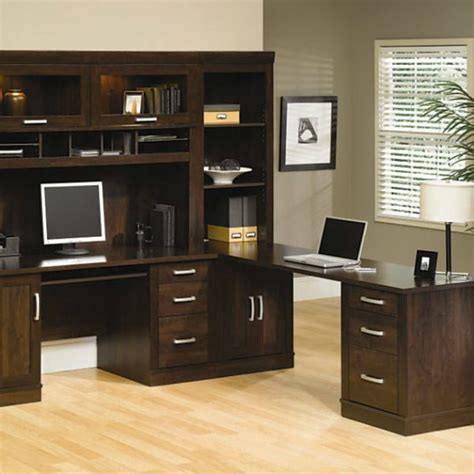sauder office port executive desk in alder sauder ps40 5 office port set the furniture co