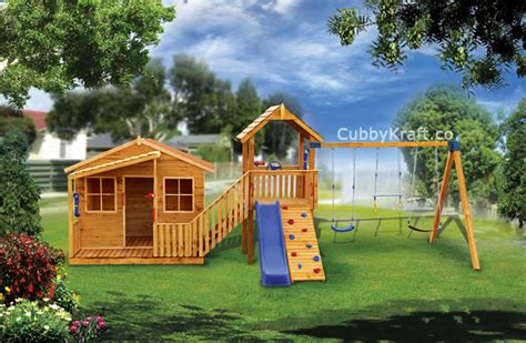 cubby house with swing and slide what muscles are developed on a cubby house cubbykraft