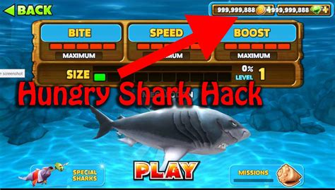 mod game hungry shark evolution hungry shark evolution v5 0 0 mod unlimited all 1 hit