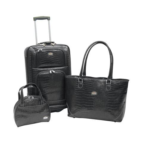 Heermes Shoper 1 Set black faux croc luggage shopper tote bag