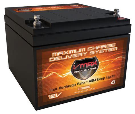cycle battery for trolling motor vmax v28 800s 12v 28ah boat trolling motor marine agm