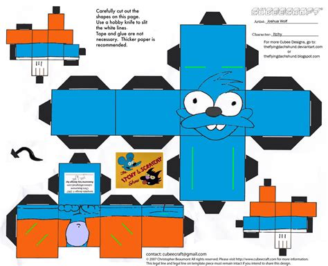 Simpsons Papercraft - simpsons1 itchy cubee by theflyingdachshund on deviantart