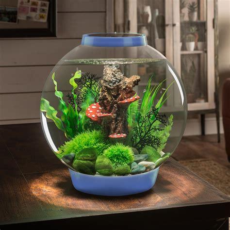 aquarium bowl design biorb classic 30l denim blue aquarium led lighting acrylic