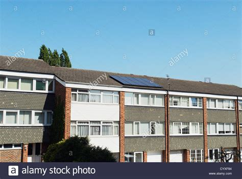 buy council house london 1960s built council house with solar voltaic panels wanstead east stock photo royalty