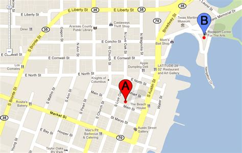 rockport festival rockport texas location info map