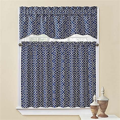 Waverly Kitchen Curtains Waverly 174 Lovely Lattice Kitchen Window Curtain Tiers And Valance Bed Bath Beyond