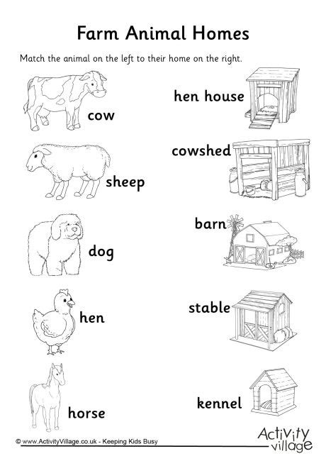 printable pictures of animal homes number names worksheets 187 kindergarten animal worksheets