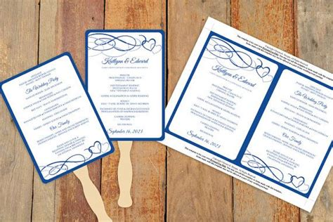wedding program fans diy template diy wedding fan program template instantly