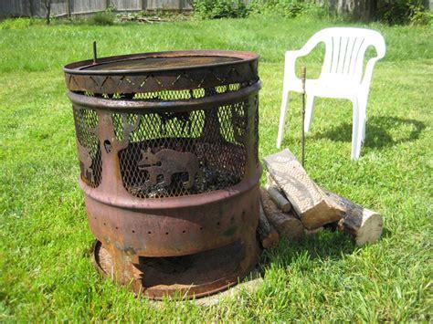 metal firepit steel drum pit pit design ideas