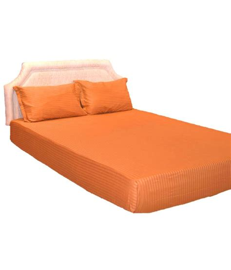 bed pillow covers trance orange bed sheet with 2 pillow covers buy trance orange bed sheet with 2