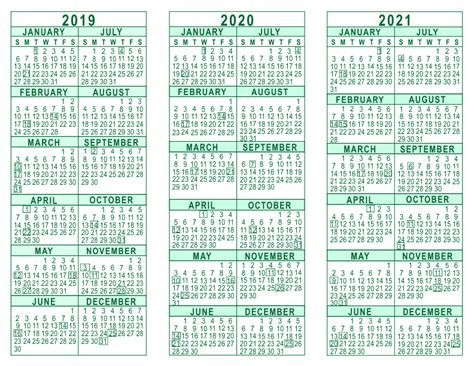 Calendar 2019 And 2020 Image Gallery 2021 Yearly Calendar