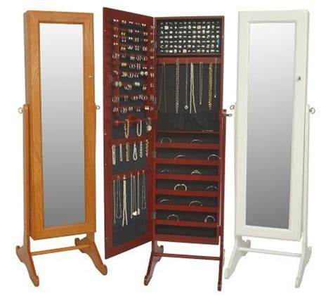 full length mirror jewellery cabinet the range gold silver safekeeper mirrored jewelry cabinet by lori