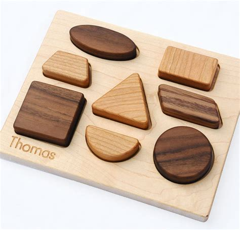 Handmade Wooden Baby Toys - this amazing eight puzzle is made from maple cherry