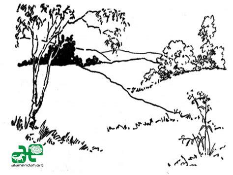 wallpaper pemandangan hitam putih mewarnai gambar pemandangan alam hitam putih 03