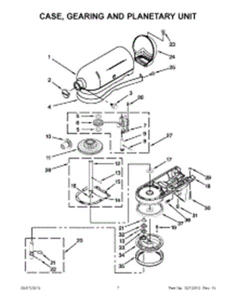 Parts for KitchenAid KSM150PSER0 Mixer   AppliancePartsPros.com