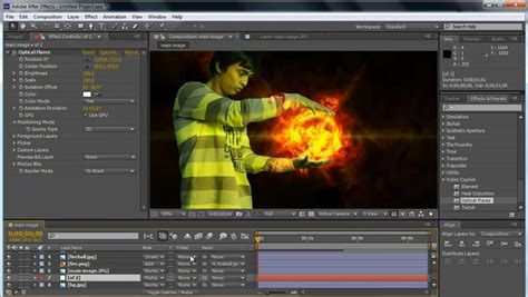 tutorial effect after effect fireball in hand adobe after effects tutorial youtube