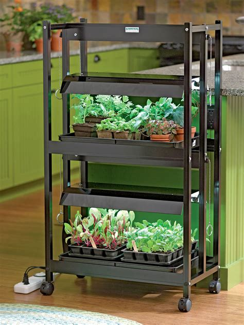 Kitchen Grow Lights Kitchen Lights Astounding Kitchen Grow Lights Ideas Compact 2 Tier Starter Indoor Herb Garden