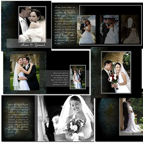 Wedding Photo Album Design Templates Adobe Photoshop by Wedding Album Templates Arc4studio