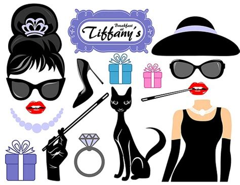 breakfast at tiffany s party photo booth prop by hummingb8rd breakfast at tiffany s digital photo booth props picwrap