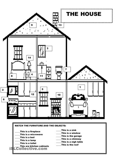house printable exercises 224 best images about parts of a house and worksheetts on