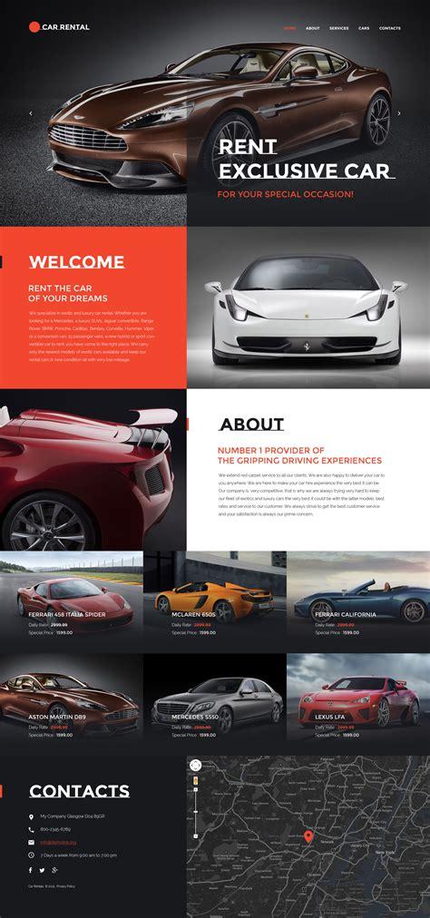 Car Rental Website Template Car Rental Website Template