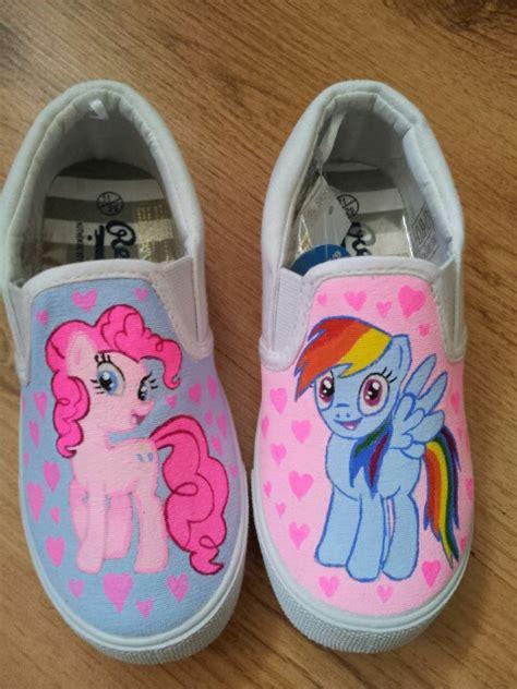 my pony shoes my pony painted shoes chalupa pinkie pie batman