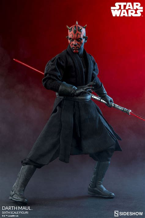 wars collectibles wars darth maul duel on naboo sixth scale figure by