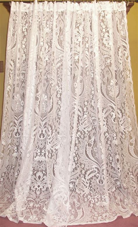 cottage lace curtains vintage chic country cottage net floral lace drapes curtains pr lacecurtains