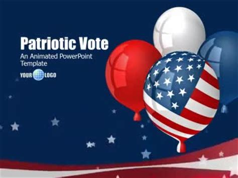 Patriotic Vote A Powerpoint Template From Presentermedia Com Patriotic Powerpoint