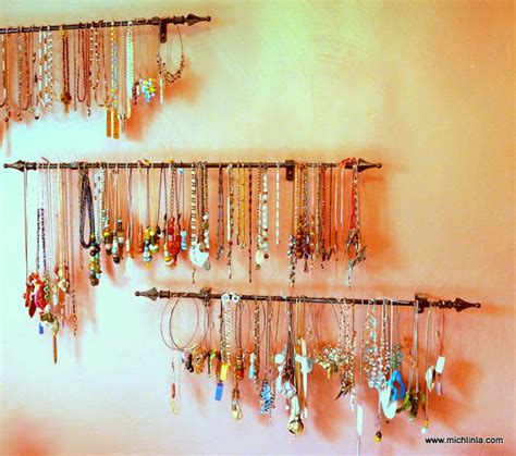 jewelry curtains mich l in l a curtain rod jewelry storage