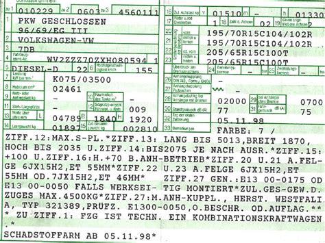 Auto Anmelden Ohne Fahrzeugschein by Fahrzeugschein Frage Darf Ich Folgende Reifen Felgen