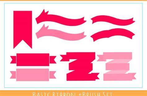 ribbon vector tutorial photoshop 32 sets of free ribbon brushes for photoshop designbeep