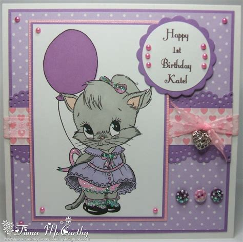 Handmade 1st Birthday Cards - handmade by fiona mccarthy kates 1st birthday card