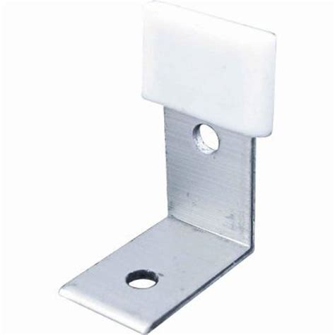 Closet Door Guides Prime Line Bypass Door Bottom Guide Brackets 2 Pack N 6655 The Home Depot