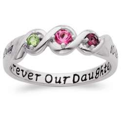platinum sterling daughters name and date birthstone