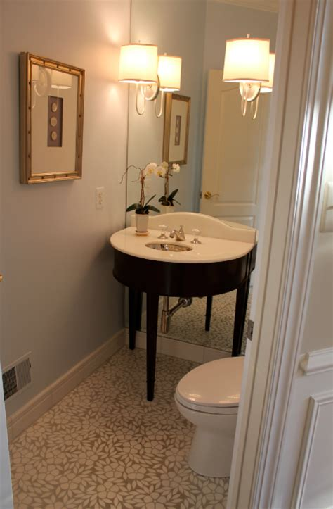 Small Powder Room Vanity My Notting Hill Anne S Windowless Powder Room Transformed