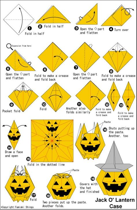 Origami Pumpkins - best 25 origami ideas on