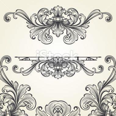 flourish tattoo designs baroque flourish set royalty free stock vector