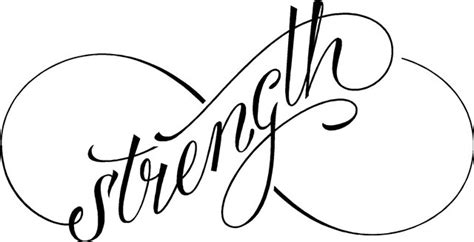quot strength quot infinity symbol sign wall decal sticker sign
