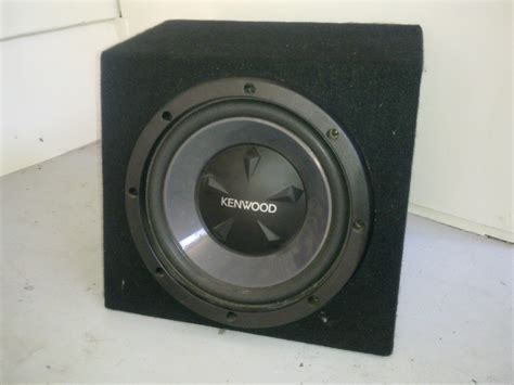 Speaker Kenwood 12 Inch 12 quot inch kenwood subwoofer in box car audio qld downs 2301646