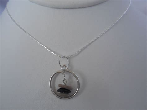 Handcrafted Sterling Silver Jewelry - kjbs3 sterling silver handcrafted three cairn