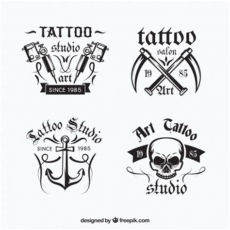 logo tattoo guy tattoo logo collection vector free download