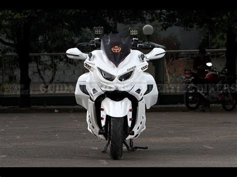 modifikasi yamaha  max bertema predator youtube