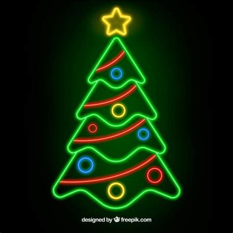 neon christmas lights tree background of neon lights vector free