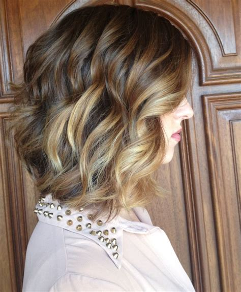 long bob hairstyles brunette summer long brunette a line bob with balayage highlights and