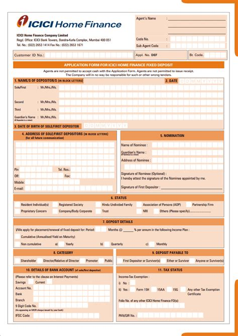 Credit Card Application Form Icici Bank application form for icici home finance fixed deposit