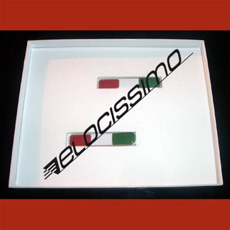 Länder Aufkleber Auto Italien by Fiat Set Embleme Italienische Fahne 2 Stk Badge Fahne