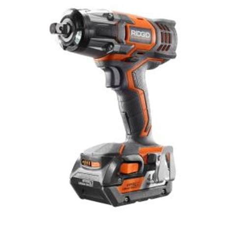 ridgid 18 volt 1 2 in impact wrench kit r86010kn the
