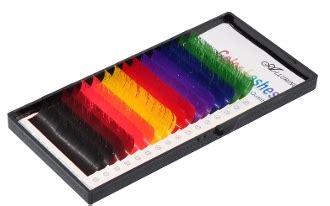 Macy Premium Mink Lash 16 Lines eyelash extensions mink b 20mm rainbow colored lashes